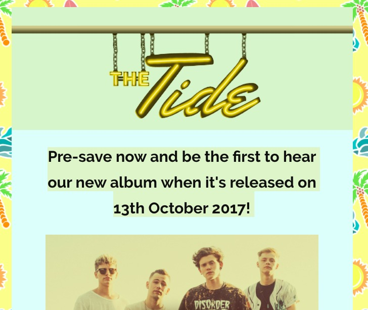 pre save spotify tide header heat on the street music marketing