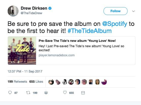 pre save spotify twitter heat on the street music marketing
